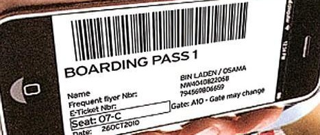 Osama Bin Laden boarding pass